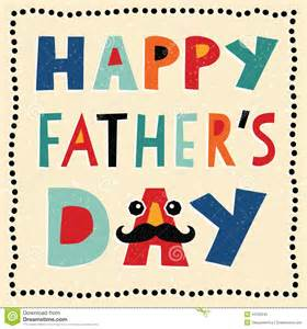 happy fathers day card with made text stock vector image 44233245