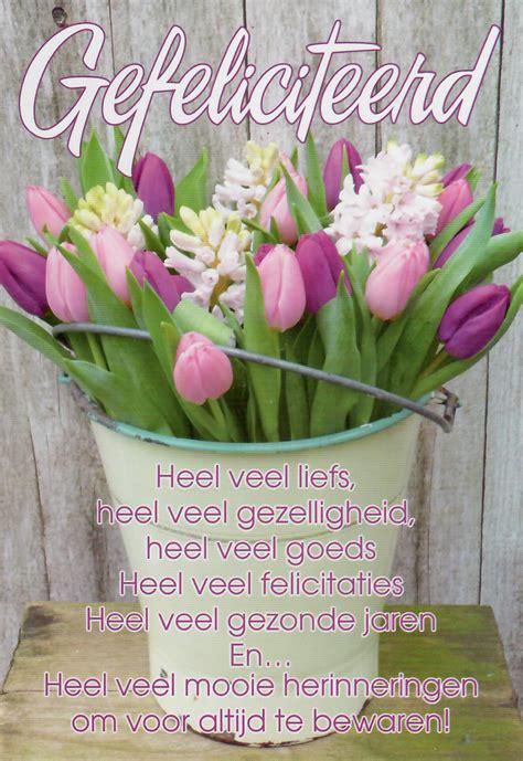 bloemen verjaardag gedicht gefeliciteerd bloem gedicht wenskaarten groothandel poskaart