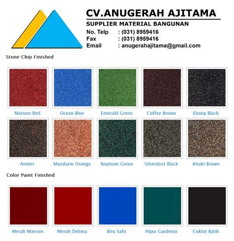 Genteng Metal Color supplier bahan bangunan jual bahan bangunan jual genteng metal vendotti