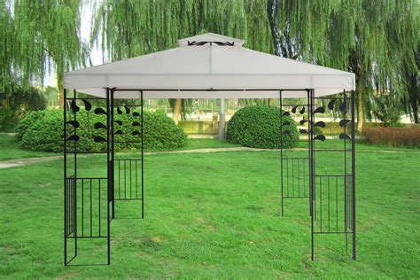 Metall Pavillon by 3x3m Pavilion Metal Gazebo Awning Canopy Sun Shade Shelter