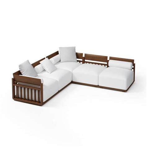 Wood Frame Sectional Sofa 3D Model   CGTrader.com