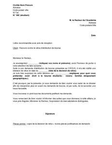 Application Letter Sample: Modele De Lettre Demande De