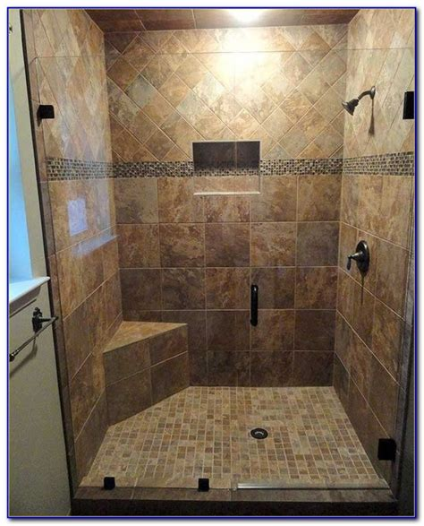 tiled walk in shower with bench walk in tile shower with bench tiles home design ideas