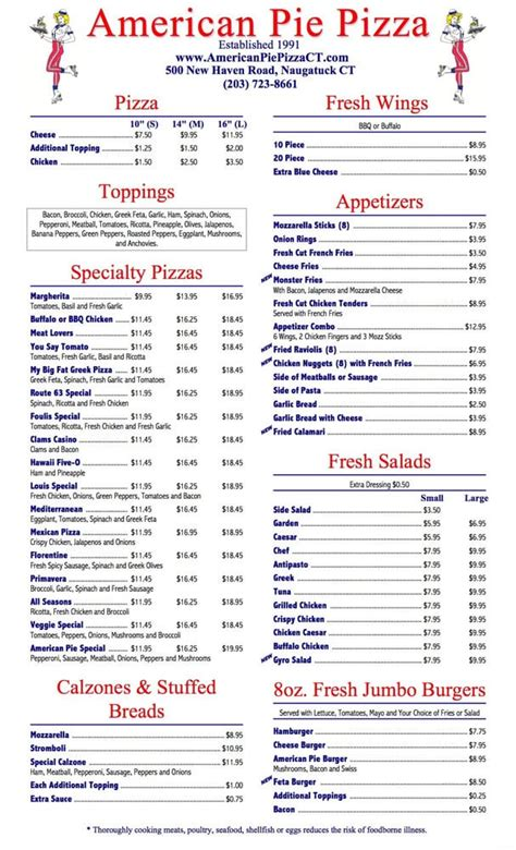 Phone Number For Table Pizza by American Pie Pizza Restaurant 30 Reviews Italian