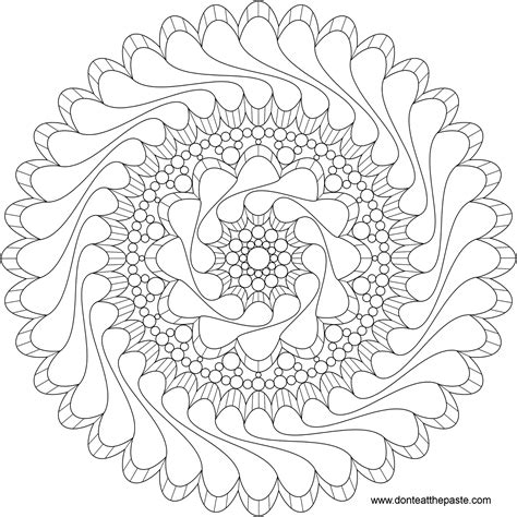 mandala pattern png don t eat the paste flowing mandala to color