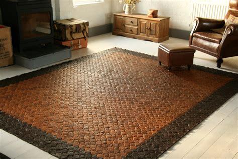 leather rug style trashion