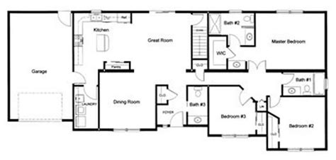 2 bedroom ranch floor plans 3 bedroom 2 189 bath open modular floor plan created and designed by our customer for a
