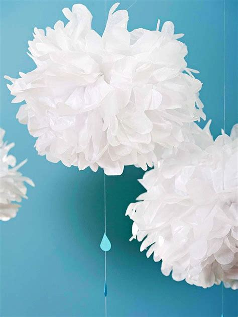 How To Make Decorations Out Of Tissue Paper - pretty paper baby shower clouds punch and