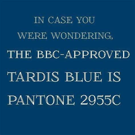 tardis blue is pantone 2955c color palette