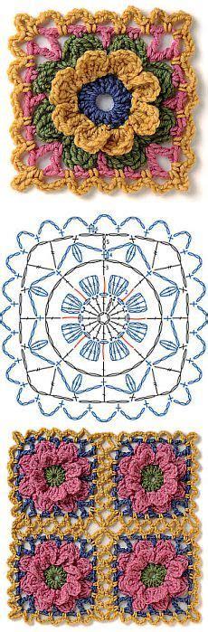 piastrelle all uncinetto schemi schemi per piastrelle all uncinetto punti e spunti