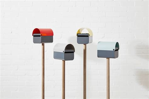 design milk mailbox a modern lockable mailbox that will make your house pop