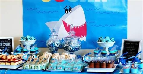 baby shark birthday theme kara s party ideas shark themed birthday party archives