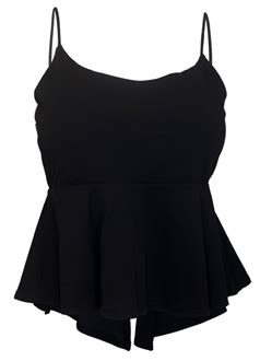 Lace Up Cropped Knit Tank Top plus size cropped lace up peplum tank top black curvy