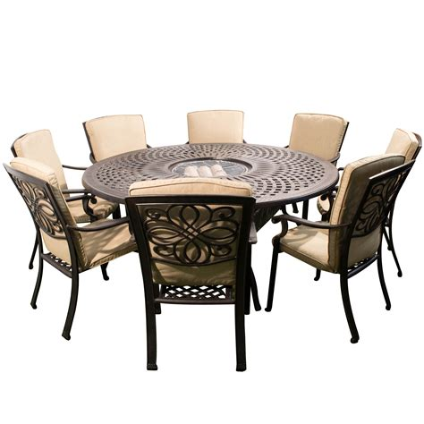Furniture. The Most Attractive Fire Pit Dining Table