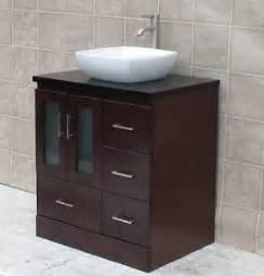 Wood Vanity Top Vessel Sink 30 034 Bathroom Vanity Cabinet Vessel Sink Wood Top Mo8 Ebay