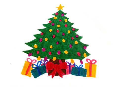 christmas tree drawing christmas tree draw clipart best clipart best