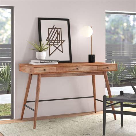 andersen solid wood writing desk reviews allmodern
