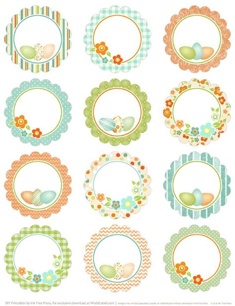 printable easter labels round easter labels free printables on blog worldlabel