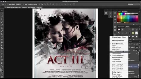 photoshop poster design video tutorials how to make a professional film poster design in photoshop