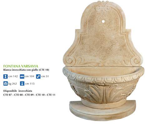fontane da giardino a parete produzione artigianale fontane da parete ideal giardino