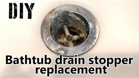 how to replace bathtub stopper diy how to replace bathtub drain stopper tutorial youtube