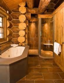 Log Cabin Bathroom Ideas by Amazing Bathroom For A Log Cabin Home Pinterest