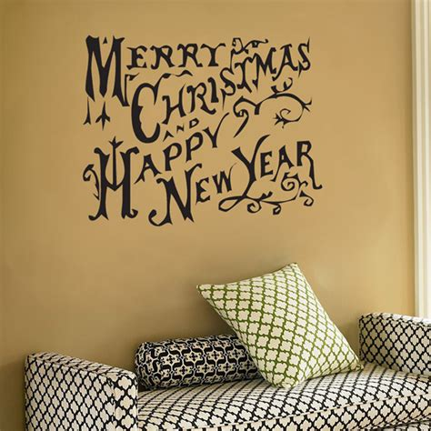 merry christmas  happy  year wall decal sticker graphic