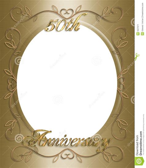 Wedding Anniversary Frames by 50th Wedding Anniversary Frame Stock Image Image 5527671