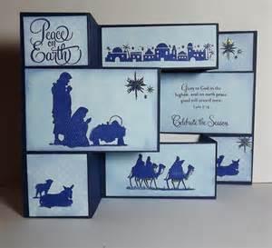 busy with the cricky nativity tri fold card