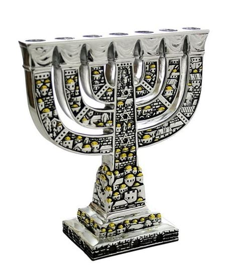 candelabro judaico candelabro judaico de 7 bra 231 os menorah de jerusal 233 m em