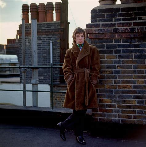 Occult Home Decor by Mick Jagger On The Roof Of Harley House London 1966 Flashbak