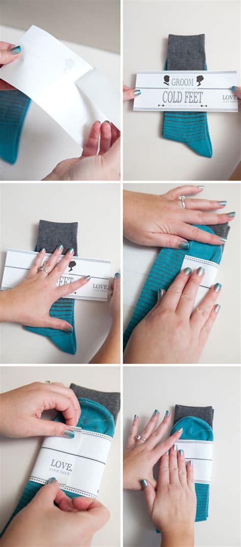 socks diy learn how to make an adorable groom cold socks gift