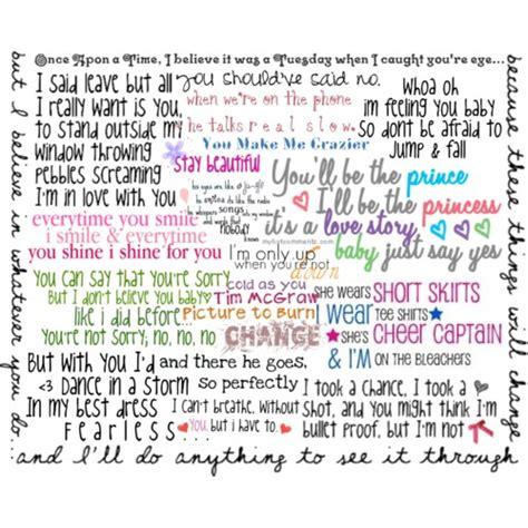 printable lyrics by taylor swift taylor swift lyrics polyvore
