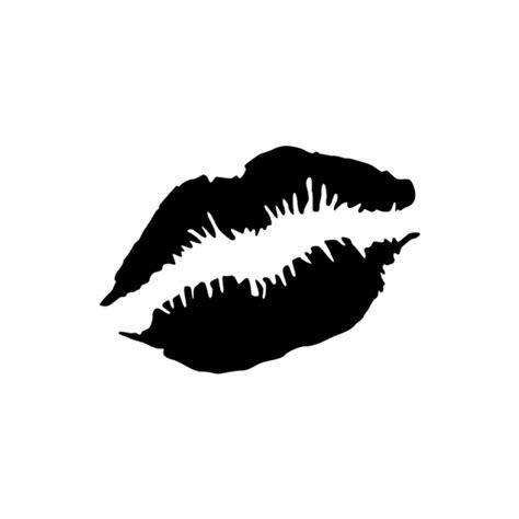 red lips tattoo stencil