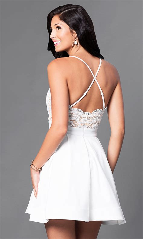 lace bodice short cheap homecoming dress promgirl