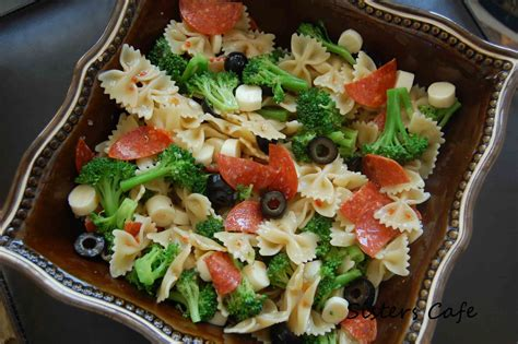 pasta salad with spaghetti noodles italian pasta salad recipe dishmaps