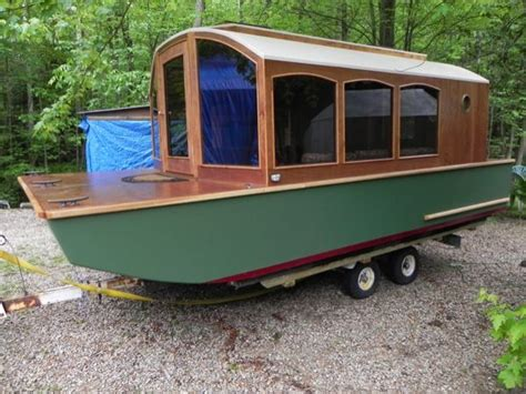 homemade house boats image gallery home built houseboats
