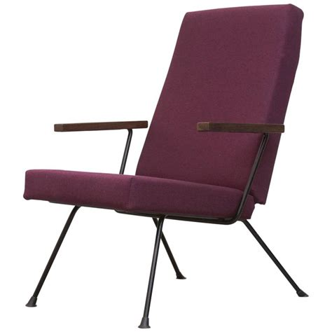 plum armchair gispen 1409 highback armchair in new plum fabric at 1stdibs