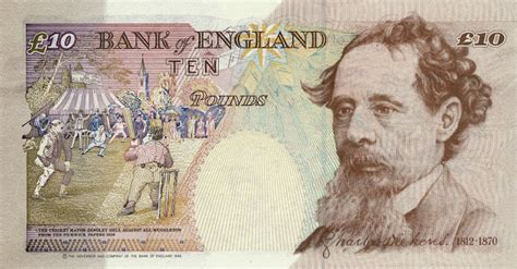 charles dickens biography notes england 10 pound sterling note 1993 charles dickens world