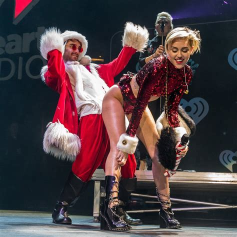Trending Today Miley Cyrus Is Not A Bad by Miley Cyrus With Santa Popsugar