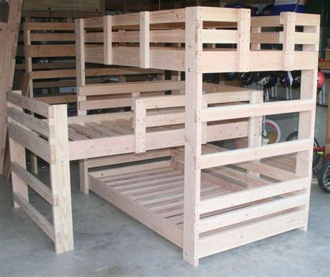 diy  shaped bunk beds woodworking projects plans