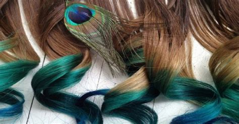 peacock hair color are dyeing their hair with bright colors to look
