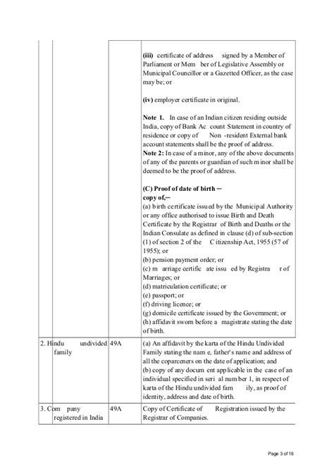 Address Proof Letter Format From Gazetted Officer New Form 49 A And Form 49aa