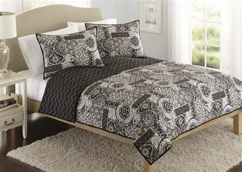 black and white global patchwork quilt beautiful