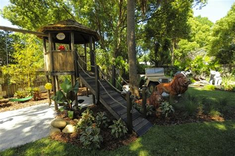 Disney Backyard by Disney S Animal Kingdom Comes To In Family S Yard