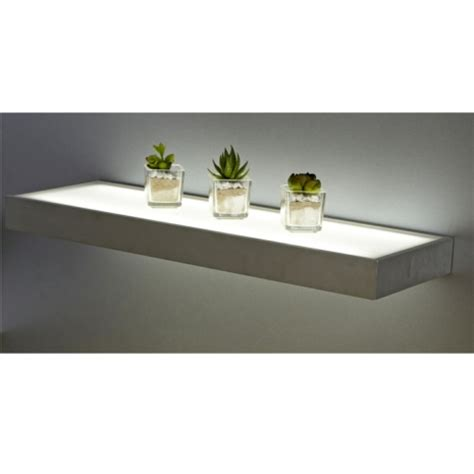 Floating Shelf Glass by Sirius 600mm Floating Box Led Lighting Glass Shelves
