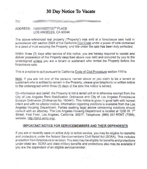 Real Estate Tenant Reference Letter printable sle 30 day notice to vacate template form