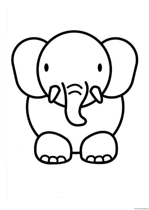print out animal elephant coloring pages 1 free