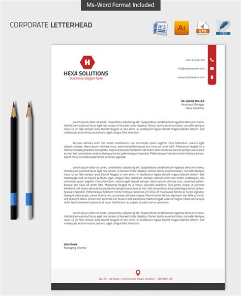 Most Beautiful Colors by 25 Professional Modern Letterhead Templates