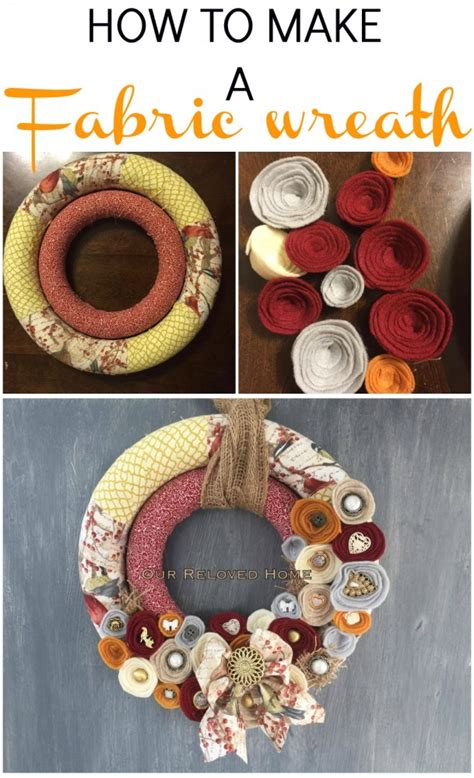 how to make wreaths how to make a fabric wreath